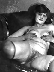 Vintage chicks with hairy pussies in fifties