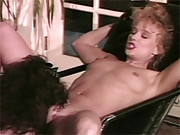 Two hot retro gorgeous lesbians enjoy fucking