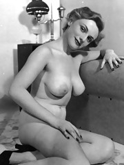 Pretty topless cute vintage girls in fifties