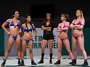 4 sexy girls compete in the only Tag Team non-scripted sex wresting in the world!  Brutal action, holds & submissions! In front of a live audience.