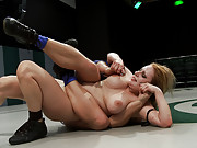 Last seasons Champion abuses and toys with the newest rookie.  Amazing locks, holds, submissions and fingering during the wrestling!! Non-scripted!