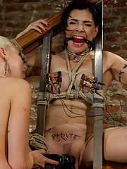 Lorelei Lee ties up and sexually dominates her college professor with bondage and electricity!
