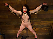 Tough submissive slut is brutally punished, spanked, fisted for the first time and has multiple anal orgasms by Aiden Starr.