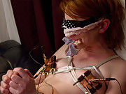 A little brat is taught a lesson by her maid with bondage, electricity, and strap-on sex!