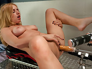 Rammed until she squirts from machines so fast with cocks the perfect size for tight pussy, Lexi Belle shows us how cumming is done.