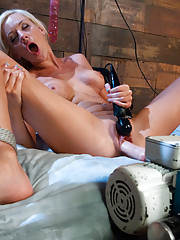 Every hole plugged in an air tight machine fucking -orgasm ripping Sybian rides, hardcore machine anal & close up view of pussy quivering aftershocks!