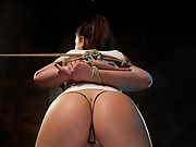 Isis Love mind fucks her beautiful slave with electrical predicament bondage, whipping, and intense orgasms