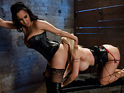 Candy Manson dominated and sodomized in threesome.