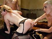 Sasha Knox gets anally dominated and double penetrated.