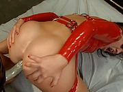 Two hot anal sluts doing extreme anal in latex!