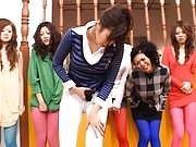 Japanese AV Model and group of gals making fun of a fellow