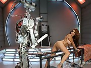 Alien Robots snatch the perfect female for hardcore machine fucking experiment-she