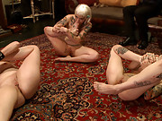 Tripod Man takes turns with each one of our slutty slaves and decides that sin will also be the canvas that he paints with his load.