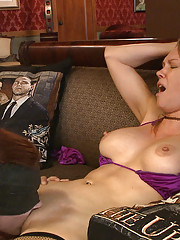 Grace is tormented and made to please Rains insatiable pussy while being fucked relentlessly from behind.