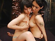 Maria Ozawa Asian rubs her chest of other gal boobs and kisses