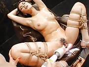 Maria Ozawa Asian is tied and fucked with vibrator by hot cupcake