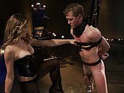 All-American pretty boy finds himself at the foot of a goddess with nowhere to hide. CBT, flogging, hardcore strap-on fucking galore.