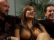 Sadistic wife cuckolds husband with tantric sex specialist. She fucks him in the ass, makes him  suck cock then has him eat all the cum off her pussy!