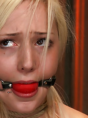 Hot 20 year old is manhandled, bound, and made to cum!