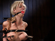 Petite blonde and ready for some wrong. Helpless busty girl is made to cum hard. Metal bound, and finger fucked, ass fucked and machine fucked.