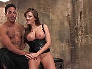 Nika Noire dominates muscle boy and fucks his ass with strap on
