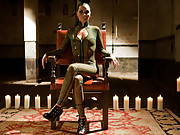 Real life mistress brings her slave to The Armory for a day of humiliation, punishment, strap-on anal sex and foot jobs!