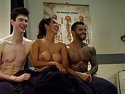 Isis Love cuckolds her boyfriend by fucking a studly, exotic doctor then making him eat the doctors cum!