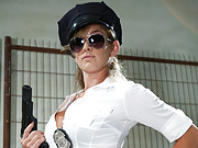 Macho prisoner dominated, humiliated, ass pounded and blackmailed by smoking hot bitch cop!