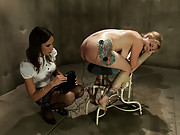 Adrianna Nicole is brought to a treatment center and violated, punished and fucked by her sexy lesbian doctor.