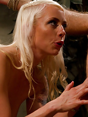 Pussyboy with a bad attitude get humiliated and ass fucked by hot blonde dominatrix.