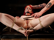 There is brutal bondage, predicament bondage, heavy impact, extreme torture, and intense orgasms ripped from her slave pussy