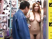 Ai Sayama Asian show she is all naked to a fellow at shopping