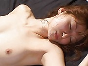 Chihiro Hara Asian roughly pulled by hair while she is pumped