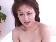 Akiho Yoshizawa Asian gets cum on spects and face after frigging