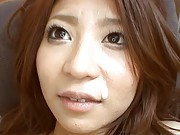 Aiku Morikawa Asian gets tits squeezed while she is pumped deep