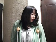 Japanese AV Model busty and in crutches has pain released by dude