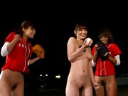 Japanese AV Model playing baseball with girls all with nude cunts