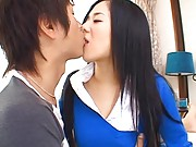 Sora Aoi Asian just meets dude and wants to be fucked by his dick