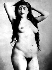 Vintage models showing pubic hair in twenties