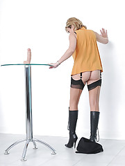 Boots and stockings mature wife