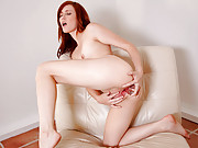 Striking Nubile Elle Alexandra pounds her pussy doggy style