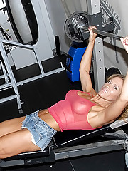 Hot big tits work out babe nailed hard in the gym real hot amazing public sex