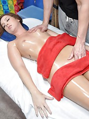 Maddy seduced and fucked hard by her massage therapist