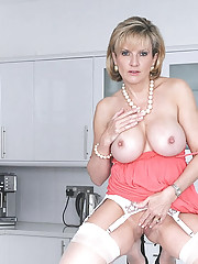 White nylons mature trophy wife
