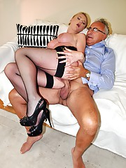 Lucky chap with glasses screwing a real babe