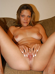 Hot brunette sucks and fucks big cock for the first time on camera