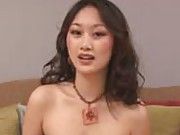 Sexy asian babe catches her first on camera facial here in these movie clips