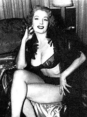 Classic babe tempest storm poses in fifties