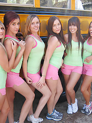 Hot ass fucking teens fuck on a moving school bus amazing group sex lesbian sex