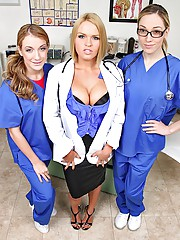 Super hot big tits nurses fucked hard in the exam room real hot power fucking group sex krissy lynn